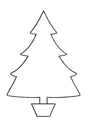 Christmas Tree Cutouts Clipart.