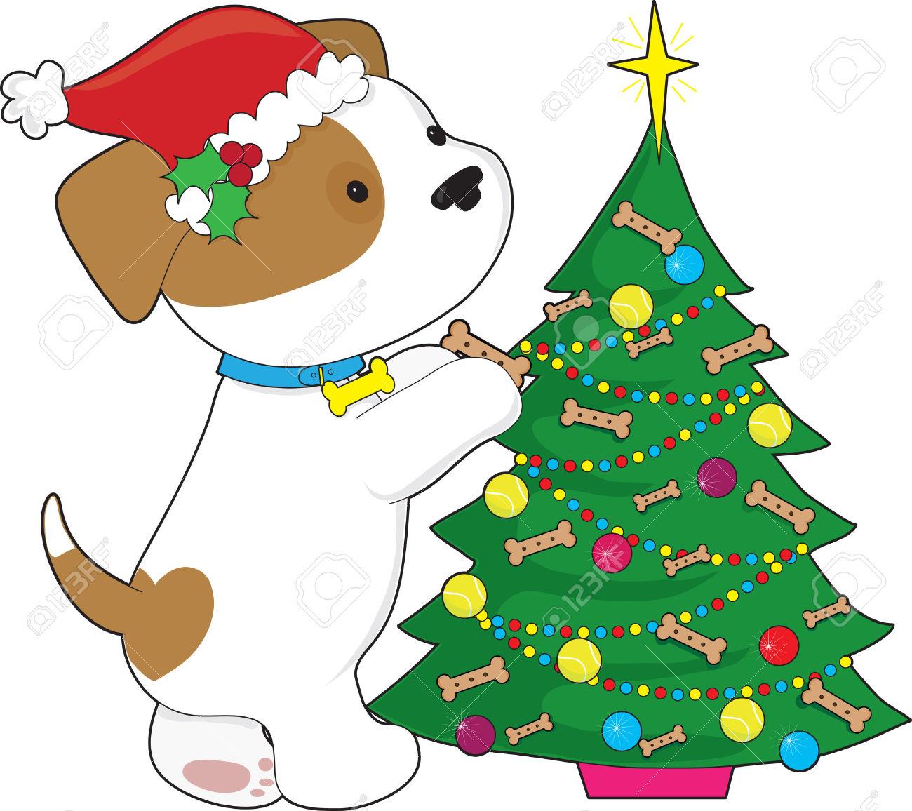 Dog Christmas Tree Clipart.