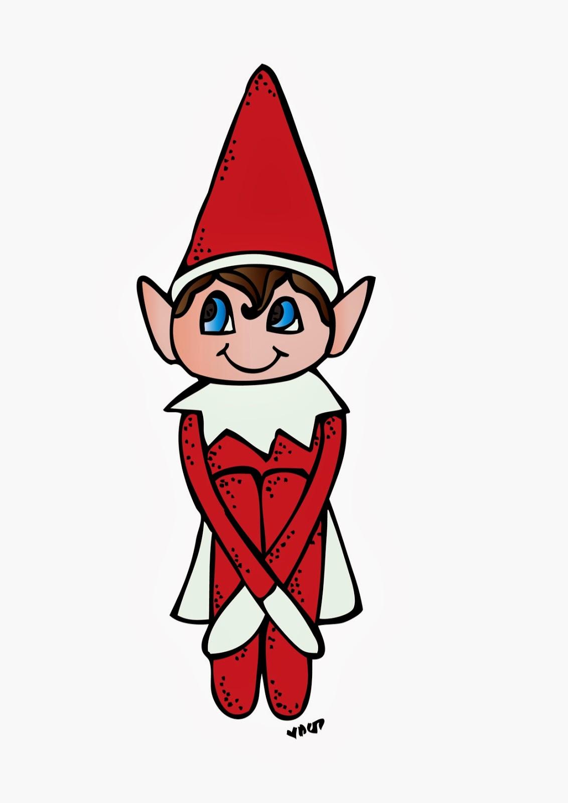 Christmas Clipart Elf On The Shelf.