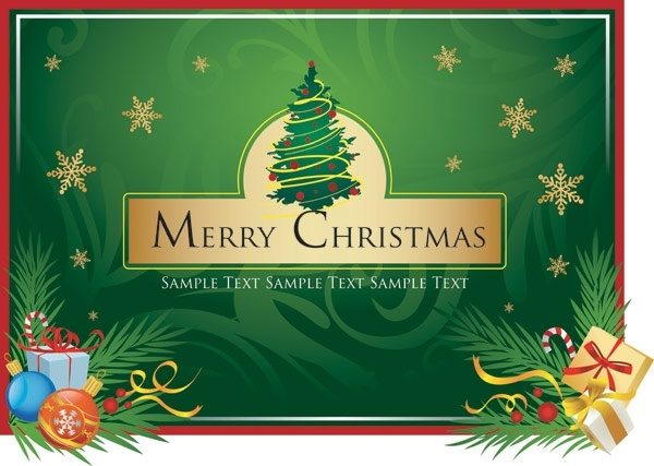 Merry christmas clip art Free vector in Encapsulated.