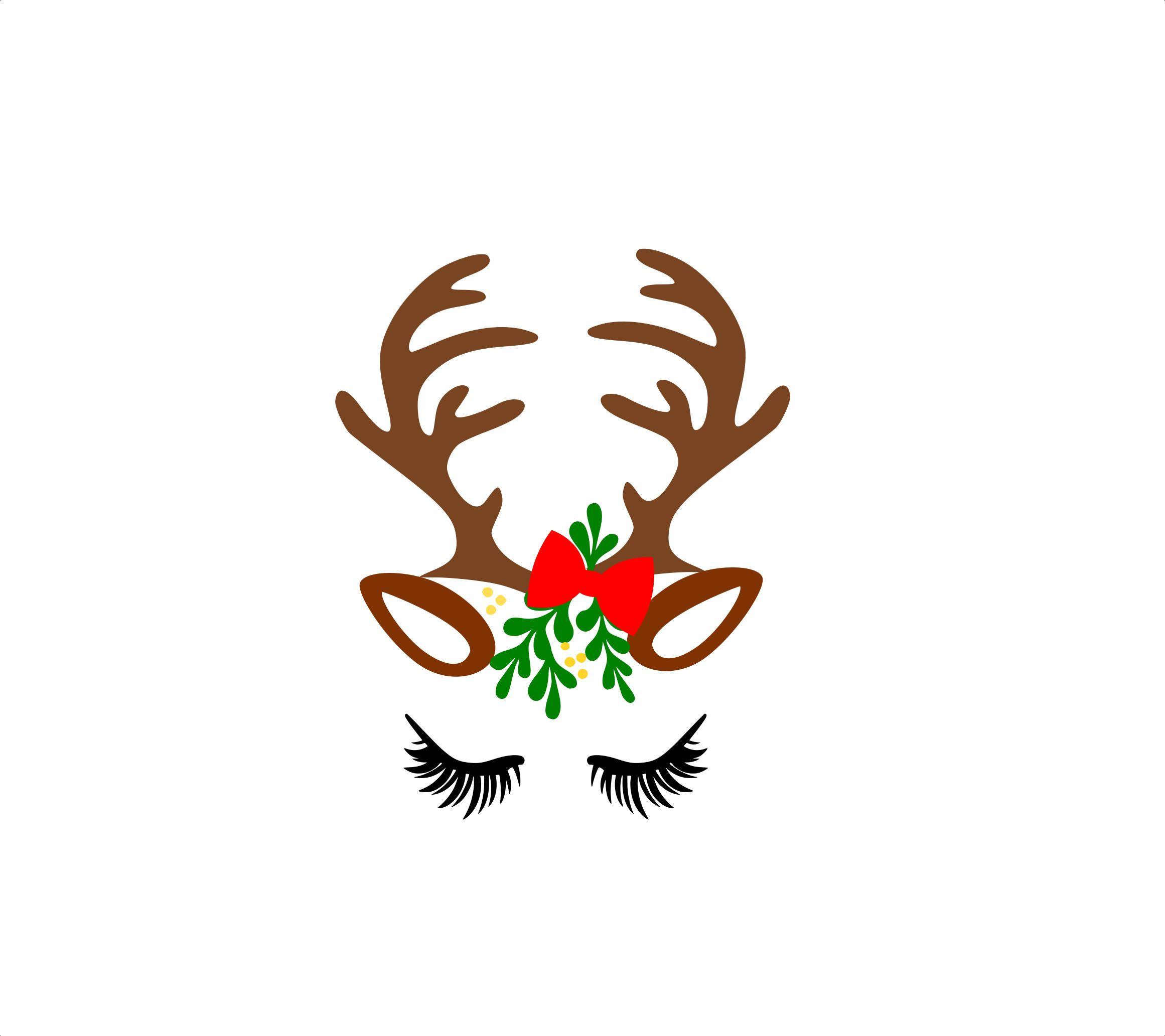 Reindeer face svg, Reindeer svg files, Christmas reindeer.