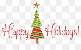 Happy Holidays Clip Art PNG Signature Block Holiday Clipart download.