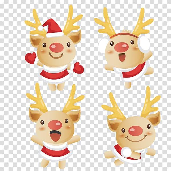 Rudolph Reindeer Santa Claus Christmas Facebook, reindeer.
