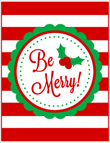 Be Merry! Christmas Sign 8.5\