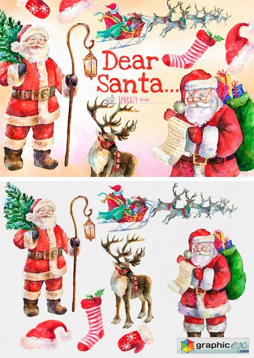 Christmas Clipart. Santa Clipart » Free Download Vector Stock Image.