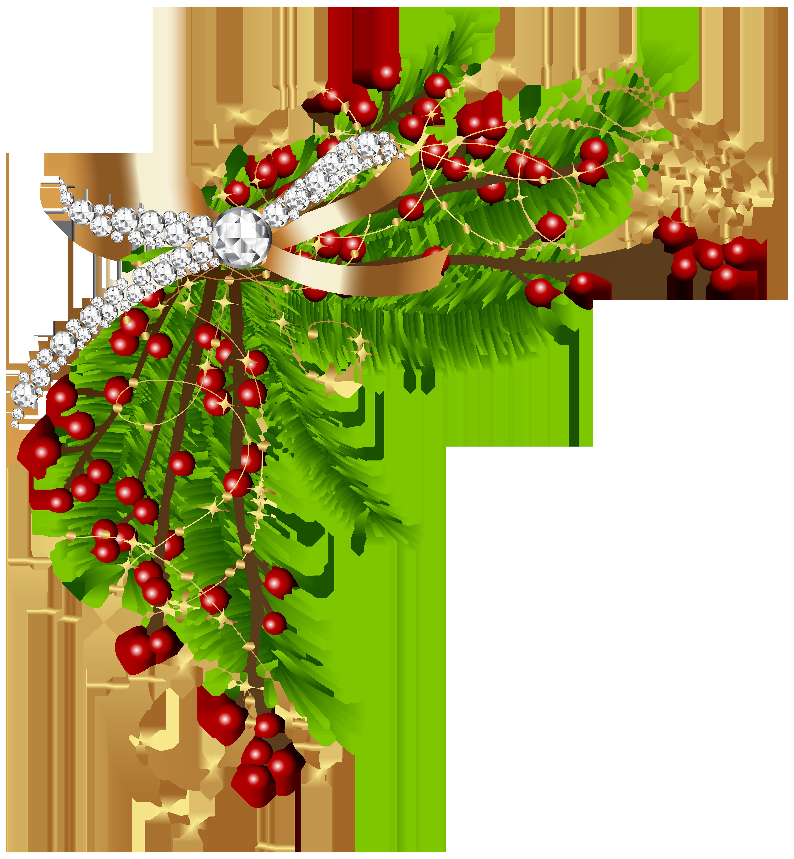 Christmas Pine Green Decor PNG Clip Art Image.