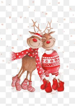 Christmas Elk, Elk, Red, Christmas PNG Transparent Image and Clipart.