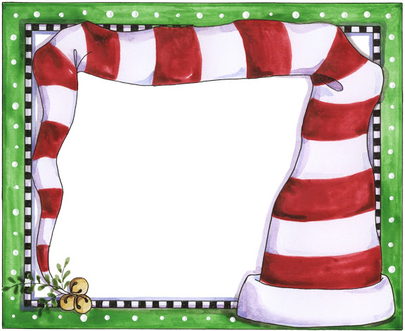 christmas elf frame vector clipart #20