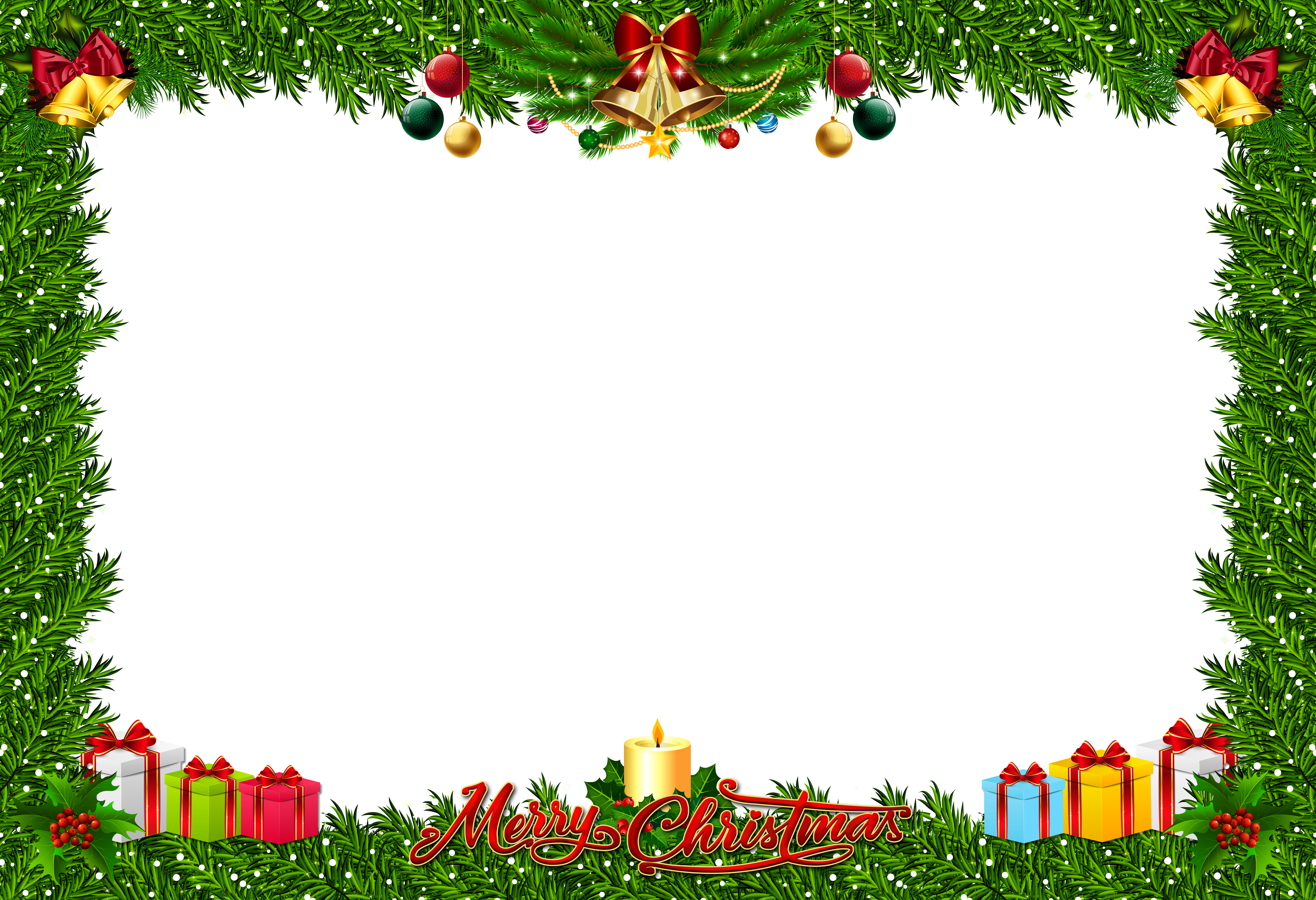 292 Christmas Frame free clipart.