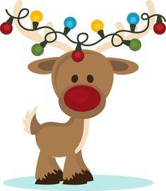 Free Christmas Deer Clipart.