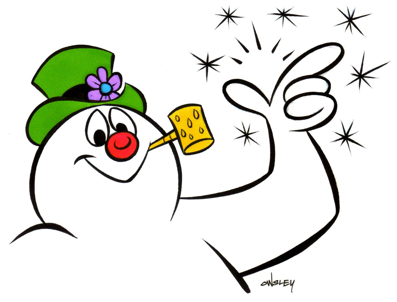 Christmas Clipart Frosty The Snowman.