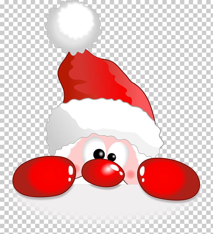 Santa Claus Christmas Reindeer Rudolph , pineapple Funny PNG.