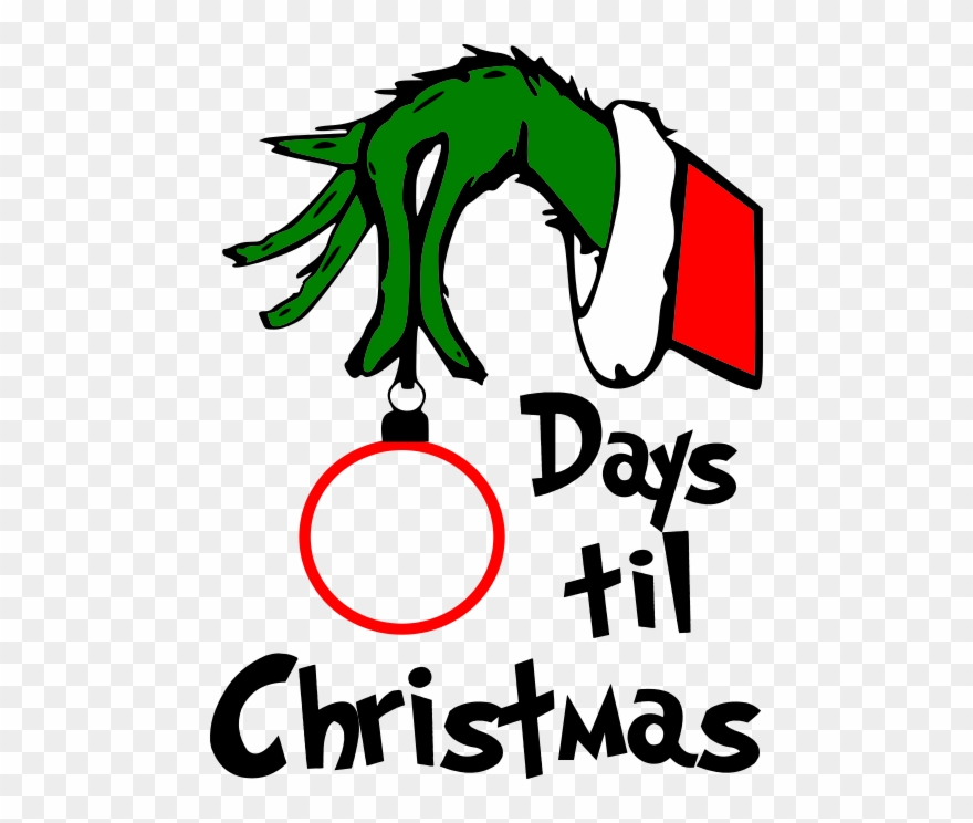 Grinch Days Till Christmas No Background.