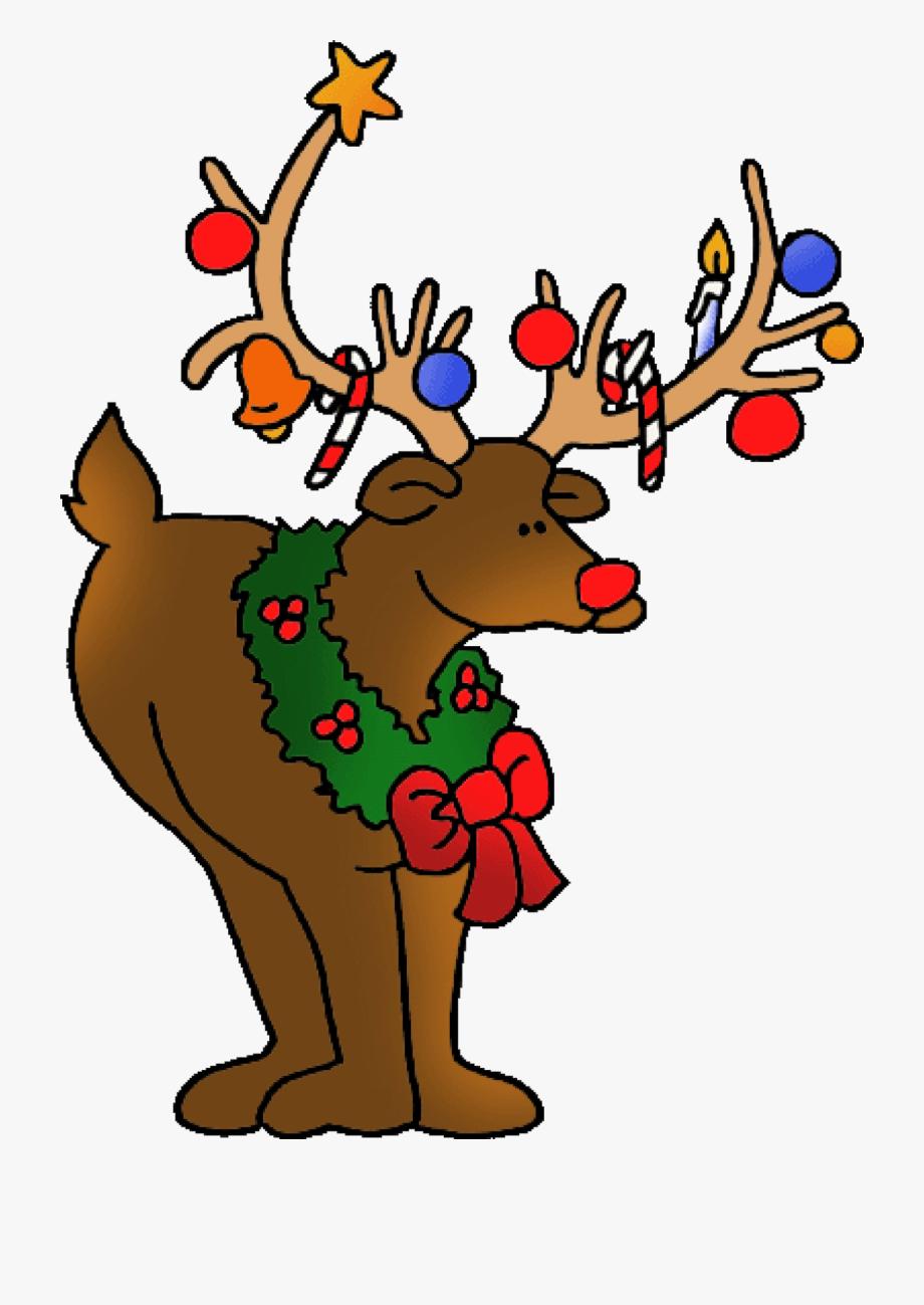 Merry Christmas Deer Clipart.