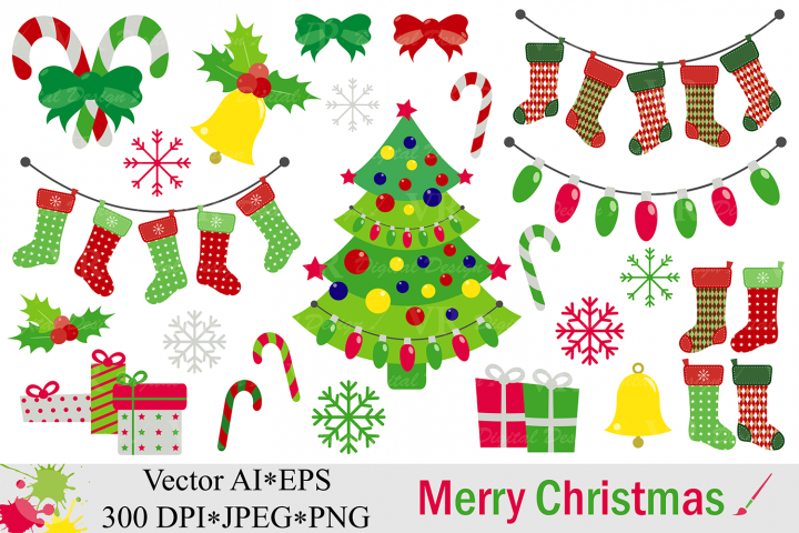 Christmas Gifts / Presents Clipart.