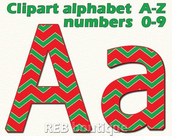 Christmas Clipart Alphabet.