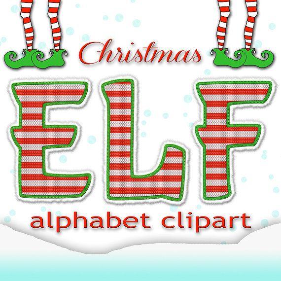 Christmas Alphabet Clipart, Elf Alphabet, Christmas Letters +.