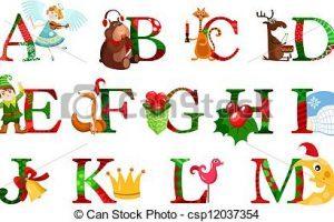 Christmas alphabet clipart letters 2 » Clipart Portal.