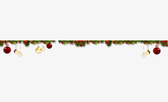 Christmas Elements Line Border PNG, Clipart, Border Clipart.