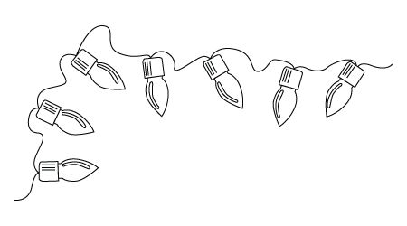 Christmas Ornament Line Drawing.