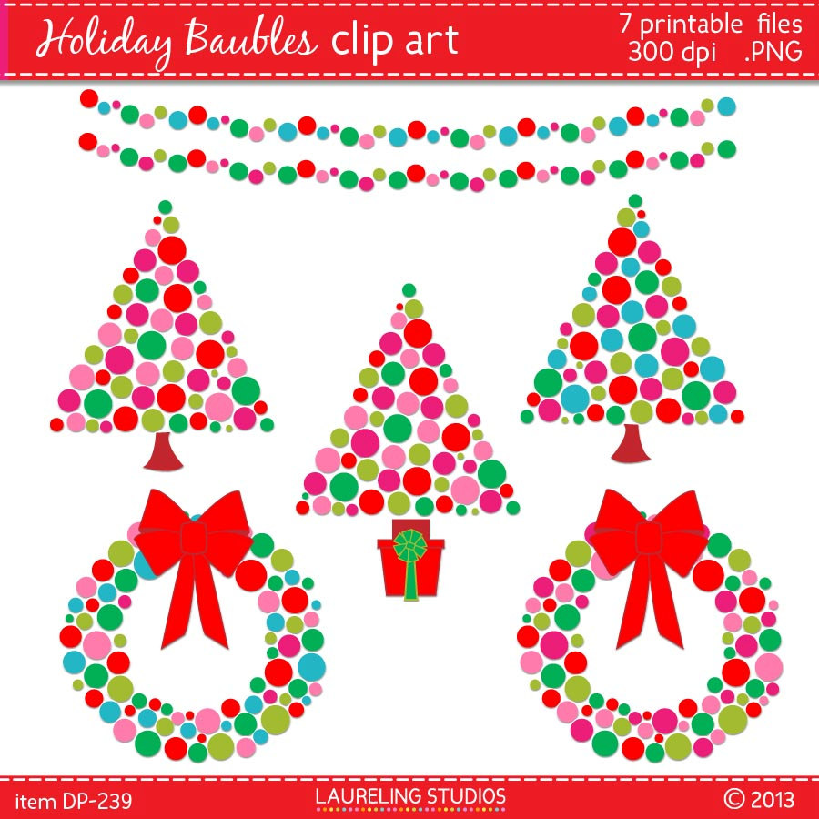 Free modern christmas clipart.