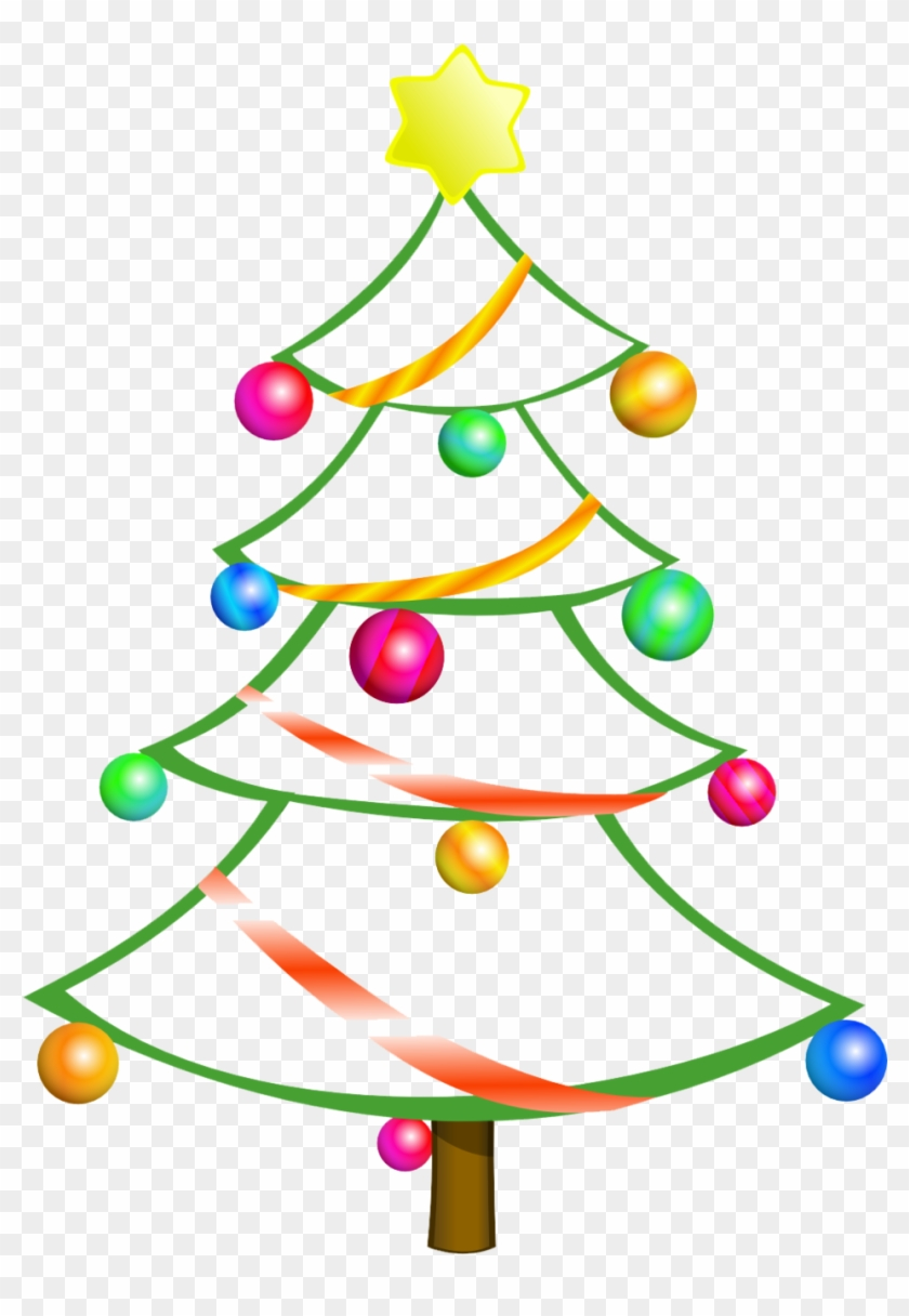 Modern Christmas Tree Clipart Free, HD Png Download.