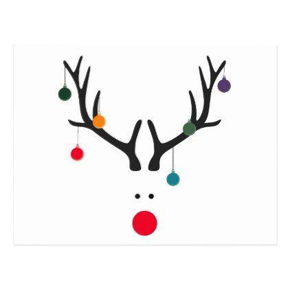 Modern Merry Christmas Clipart.