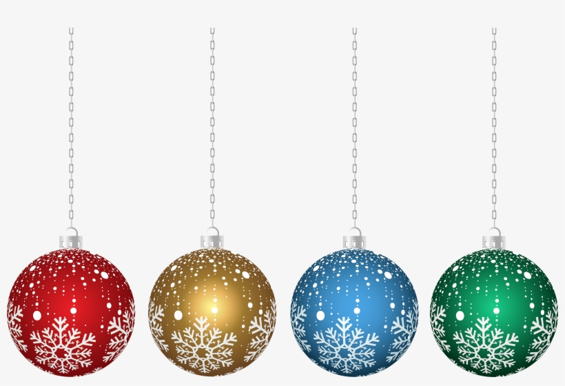Transparent Hanging Christmas Ornaments Png.