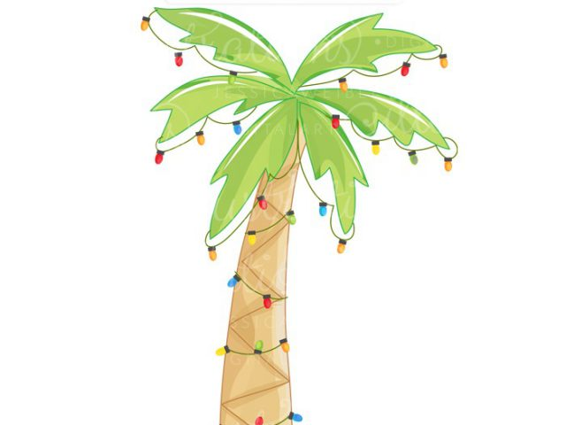 Christmas Palm Tree Clipart.