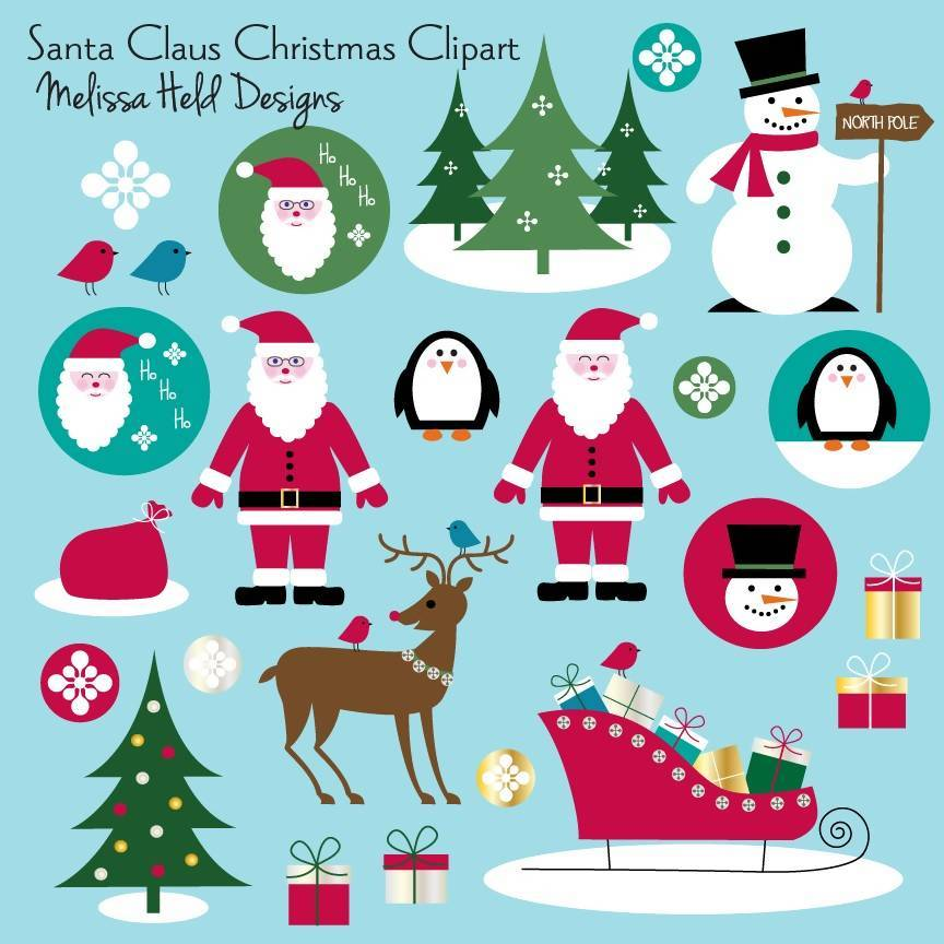 Santa Claus Christmas Clipart.