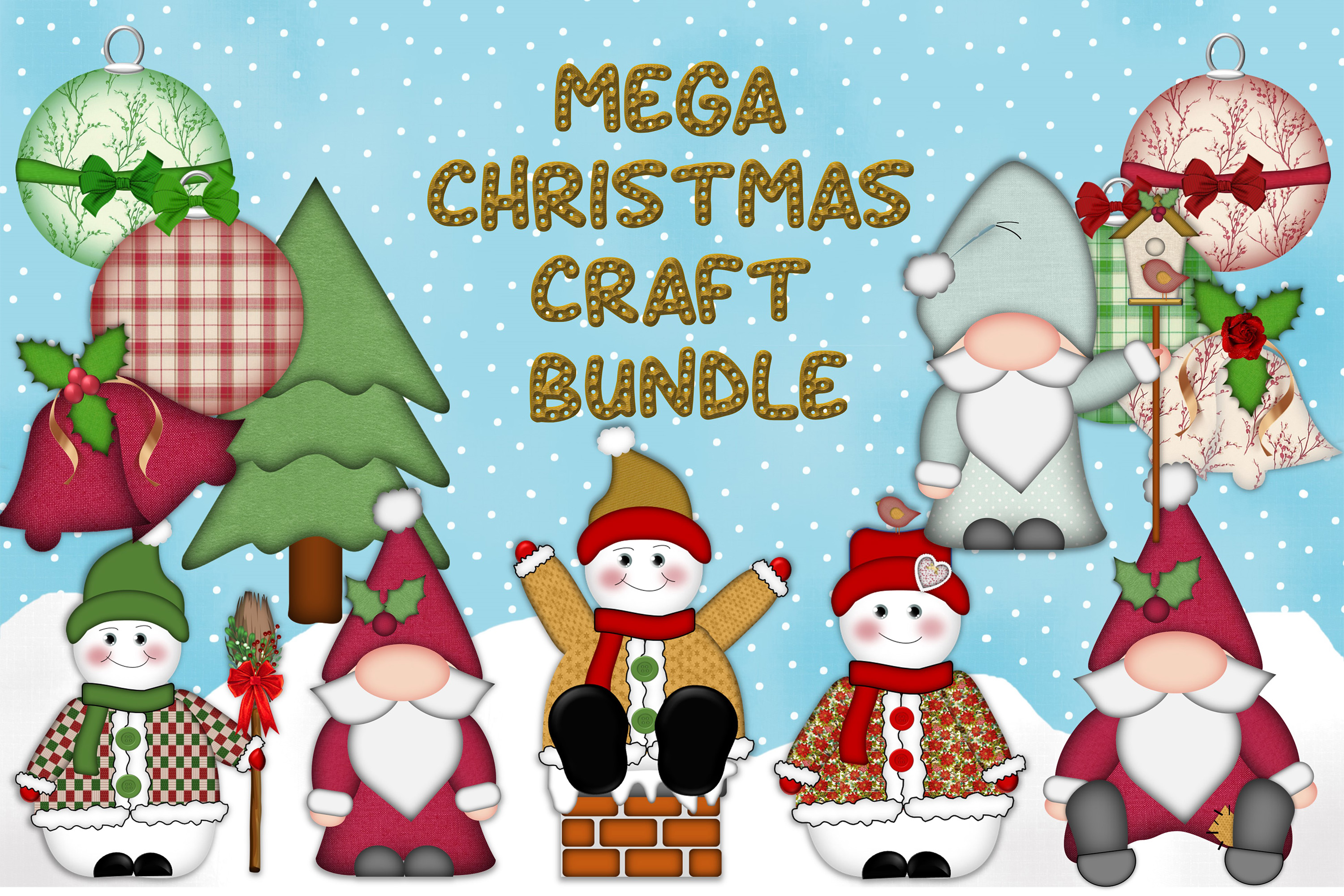 Christmas Clipart and Craft Bundle.