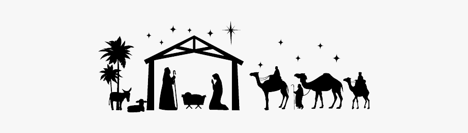 Religious Nativity Scene Christmas Clipart Free.