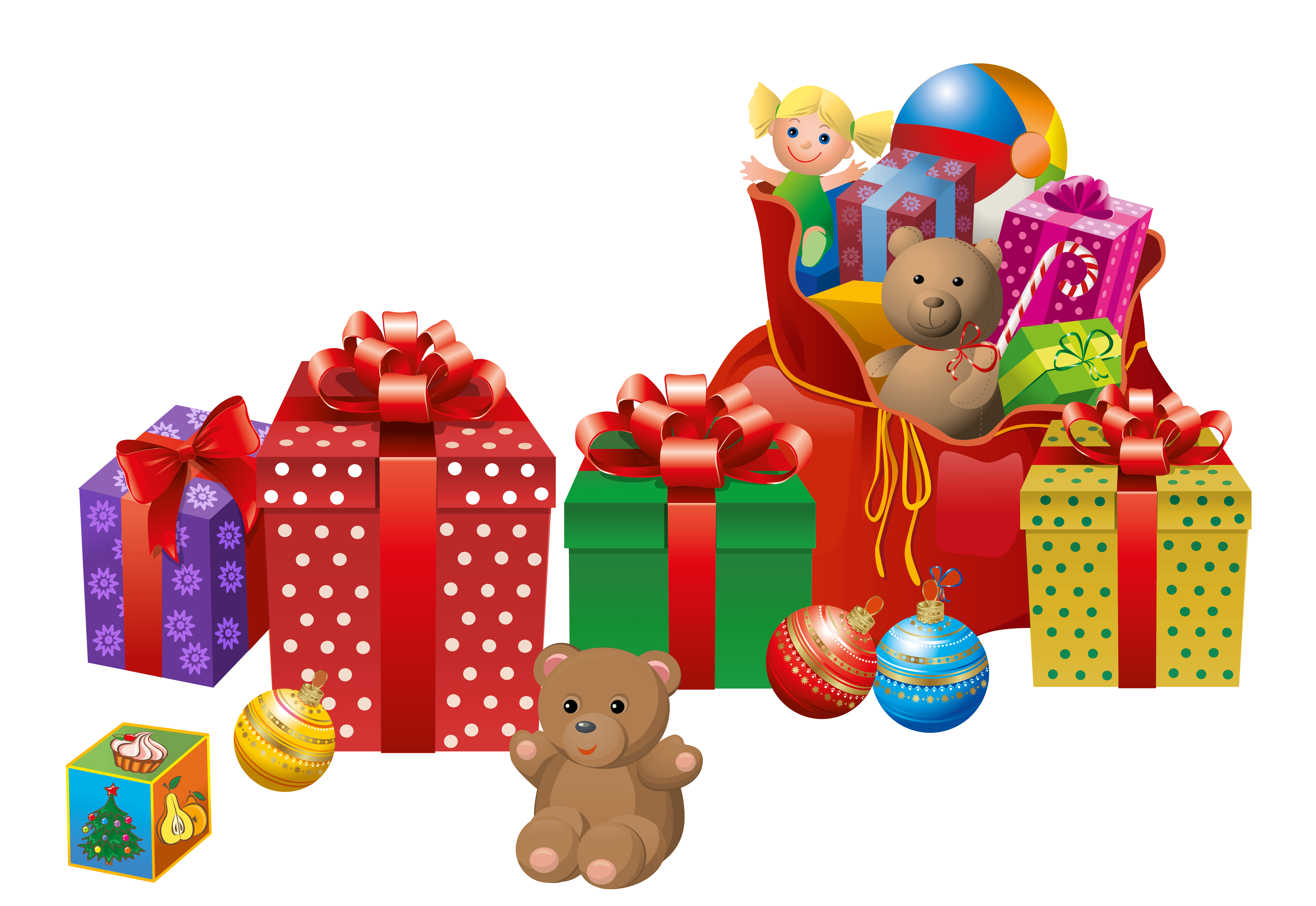 Transparent Christmas Presents PNG Clipart.