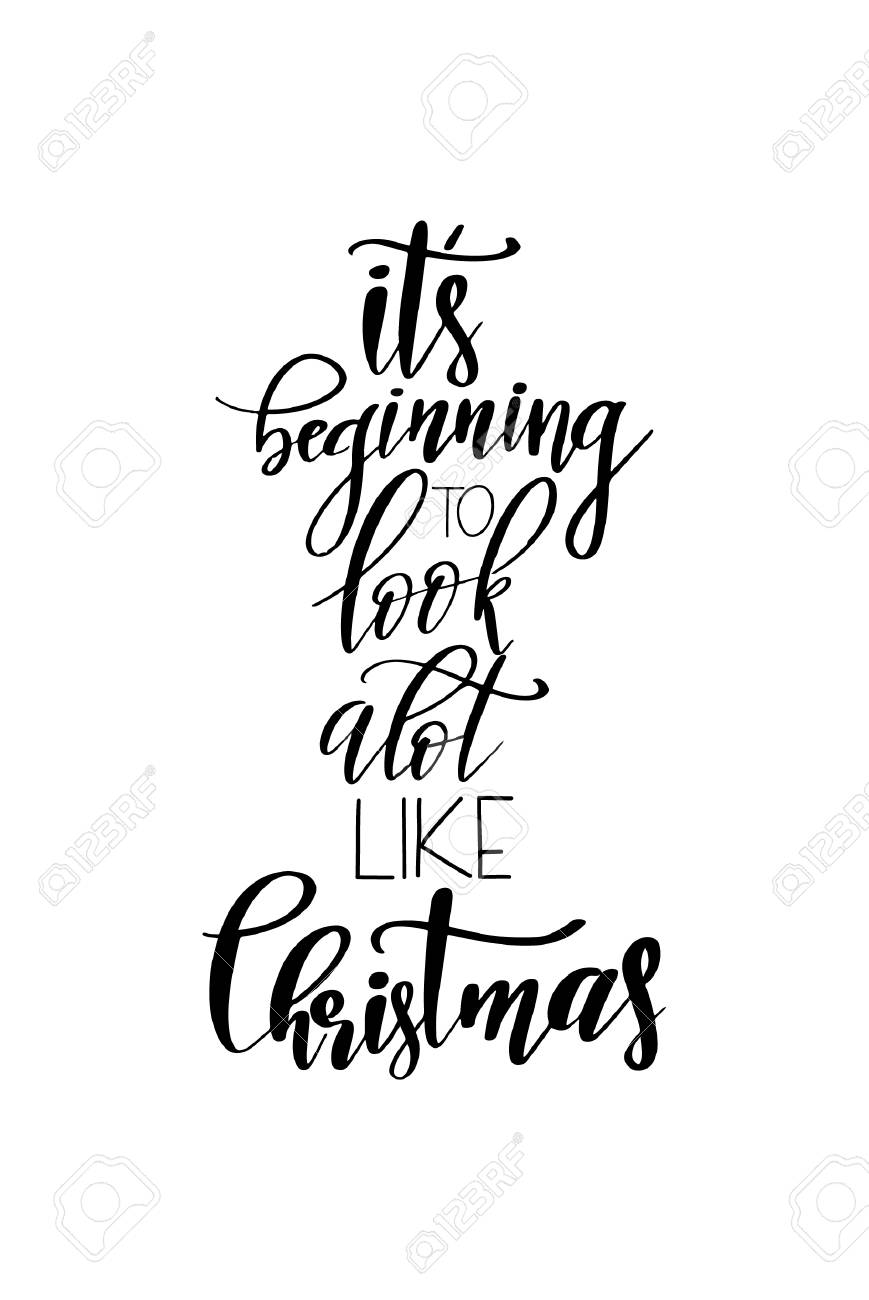 Coloring Book : Christmas Quote Lettering Printesign Vector.
