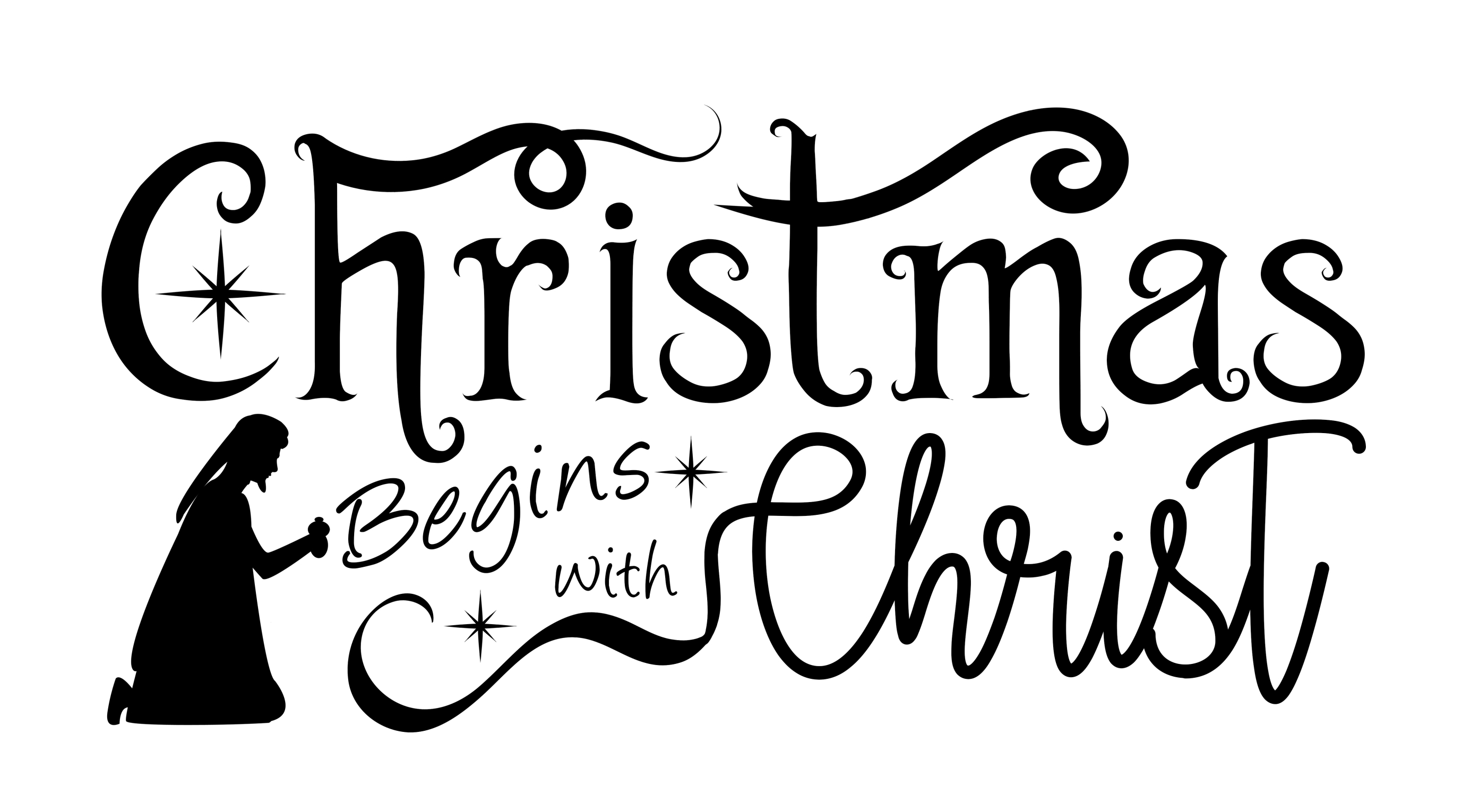 Religious Christmas Quotes, 13 Christmas Messages, SVG, JPG.