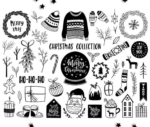 Christmas clipart / Scandinavian clip art / Christmas quotes.