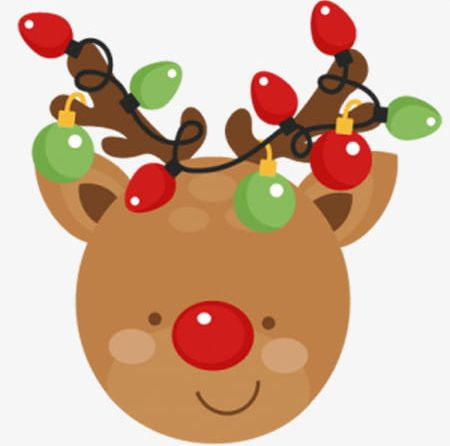Christmas Reindeer PNG, Clipart, Cartoon, Cartoon Reindeer.