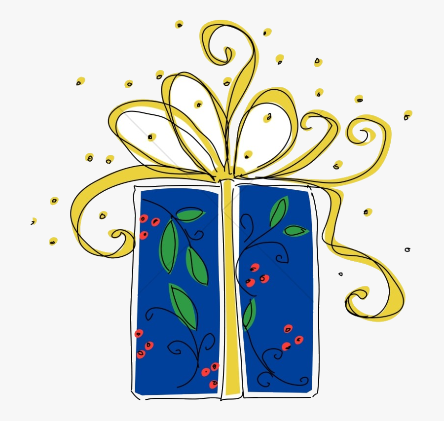Christmas Big Blue Present Religious Clipart Transparent.