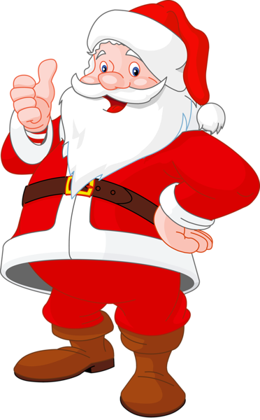 Transparent Santa Claus.
