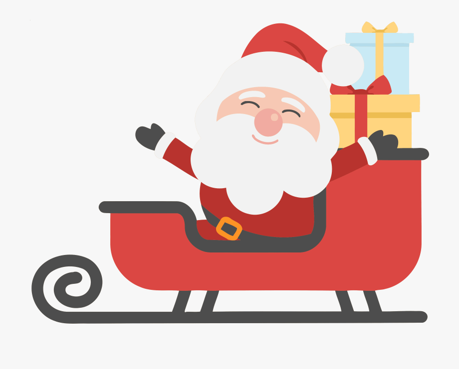 Merry Christmas Clipart Santa.