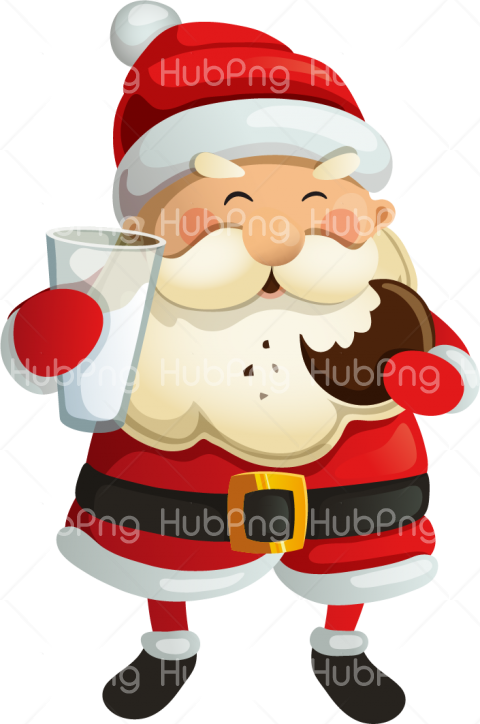 santa claus png food for christmas clipart Transparent.