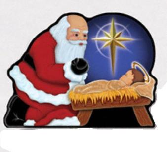 Christmas Clipart Santa And Jesus.