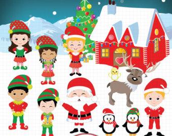 christmas clipart santa and jesus - Santa And Jesus