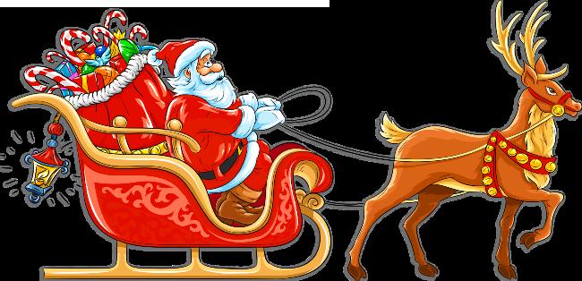 Christmas Santa&Sleigh Clipart.