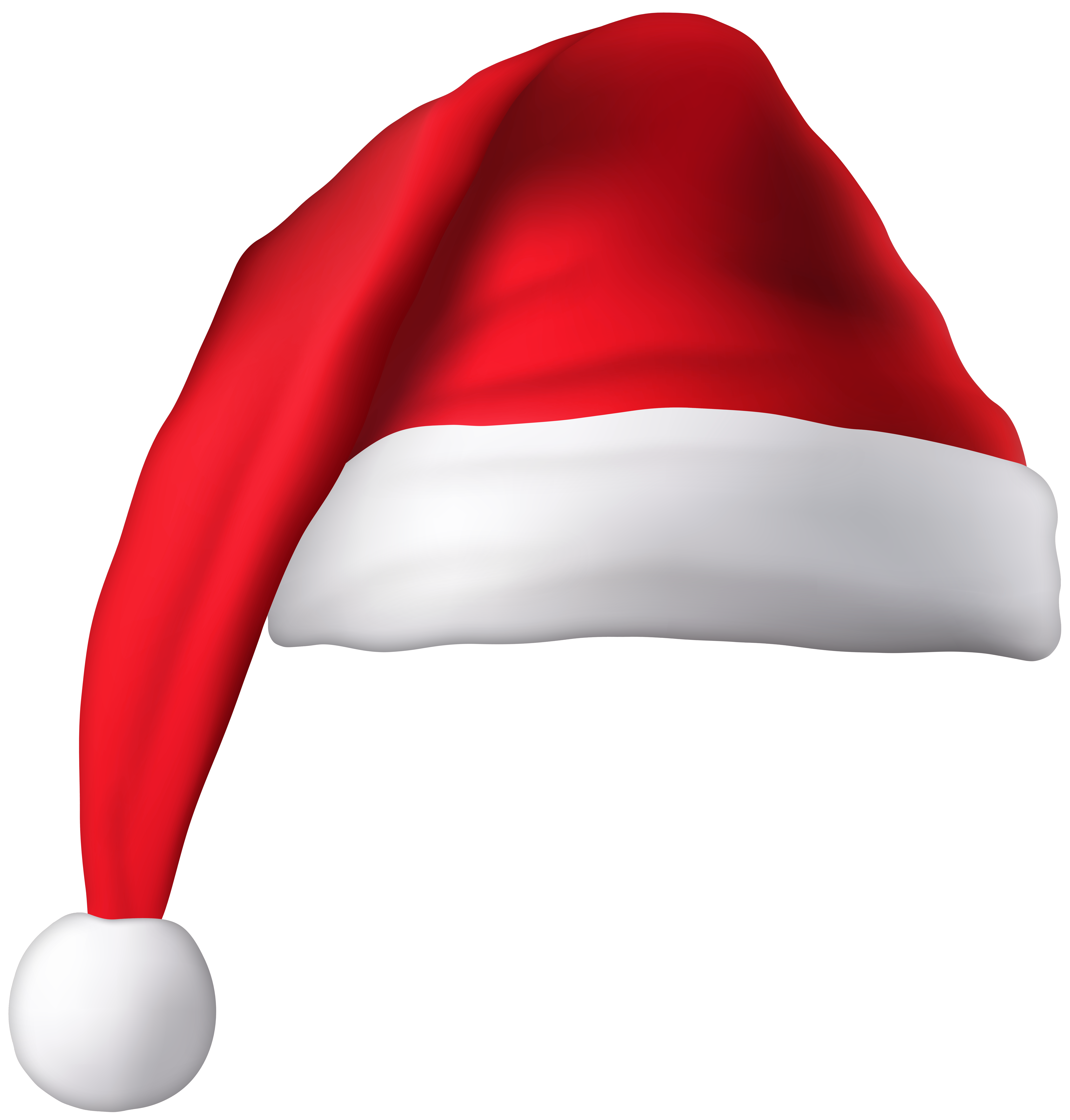 Red Christmas Santa Hat Clip Art Image.