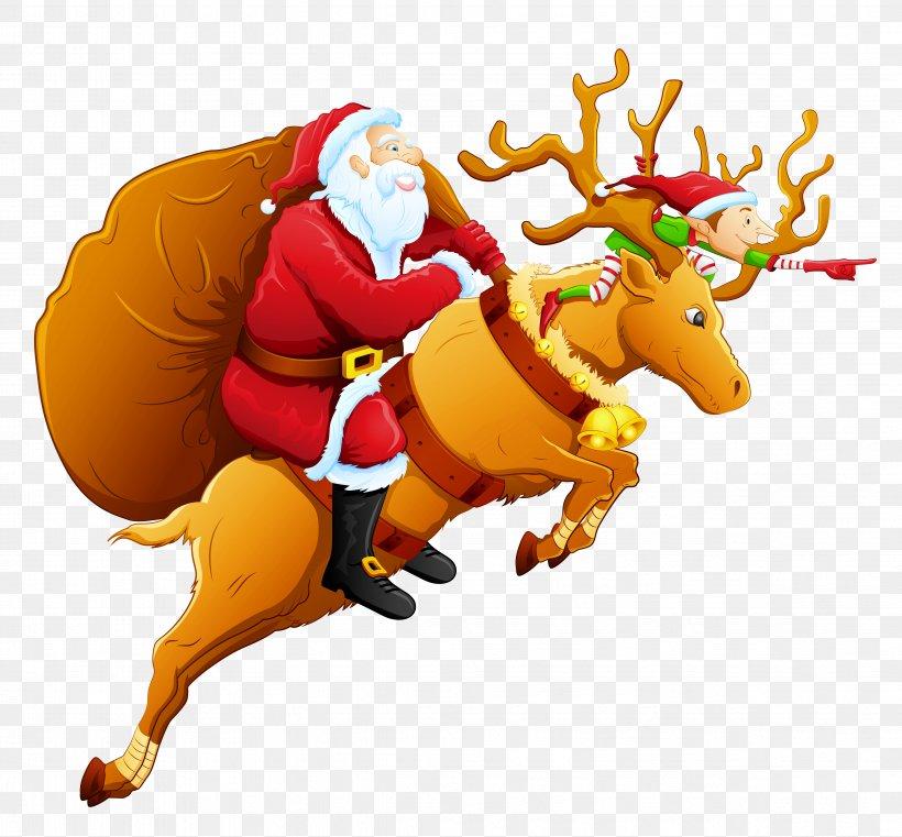 Santa Claus\'s Reindeer Santa Claus\'s Reindeer Christmas Clip.