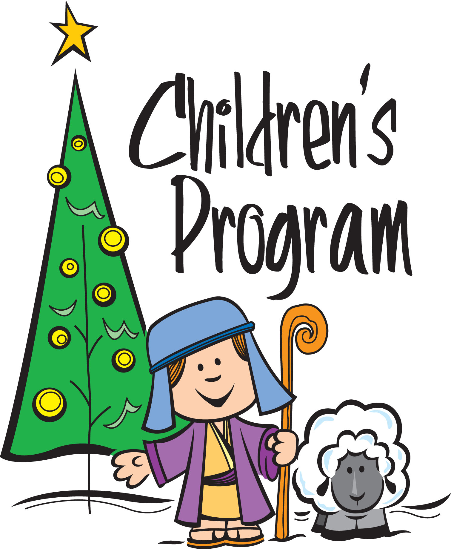 Christmas Children At School Clipart.