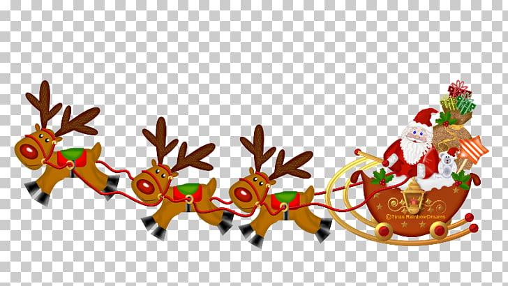 Santa Claus Christmas New Year\'s Day , santa sleigh PNG.