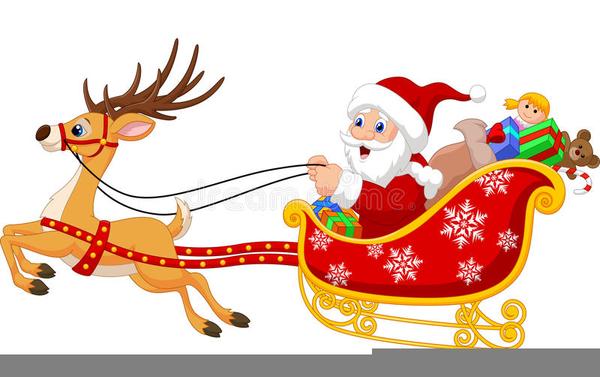 Christmas Clipart Sleigh Ride.