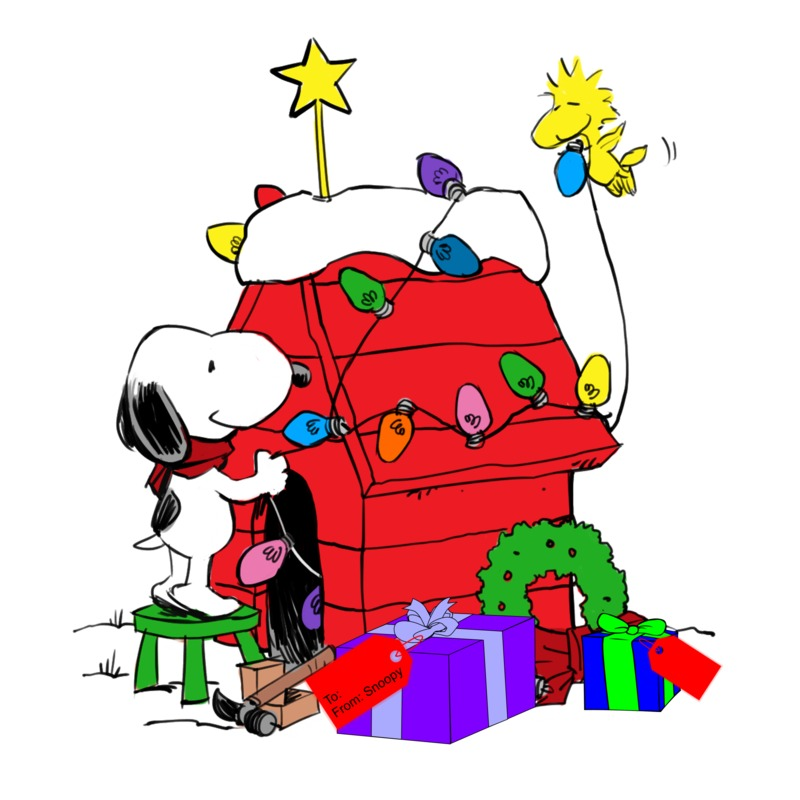 Snoopy christmas clipart 7 » Clipart Station.